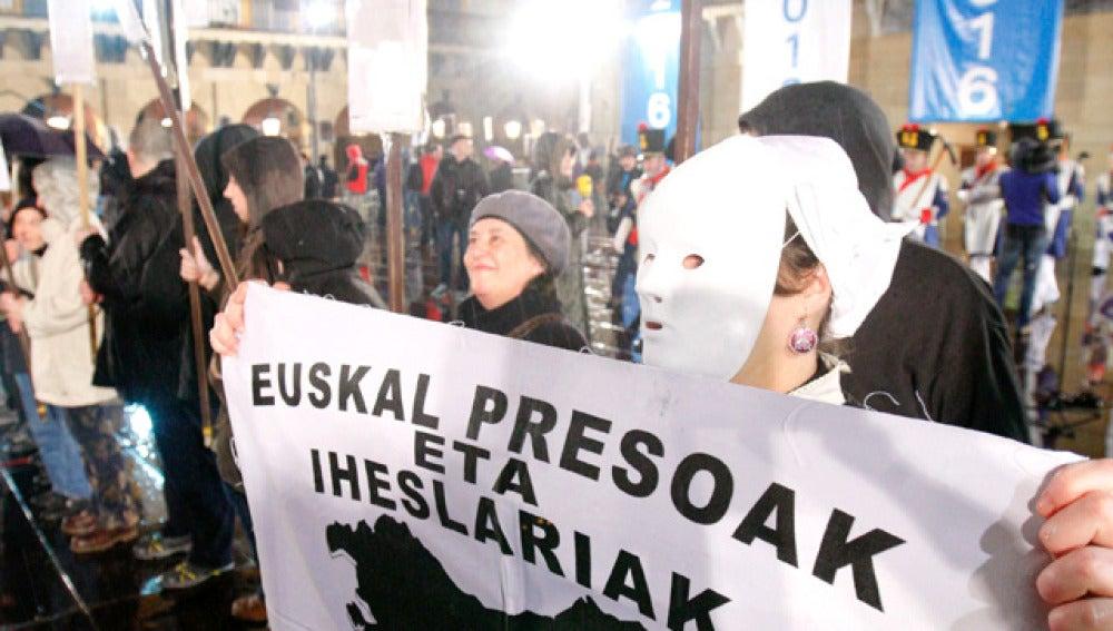 Manifestación en favor del acercamiento de presos