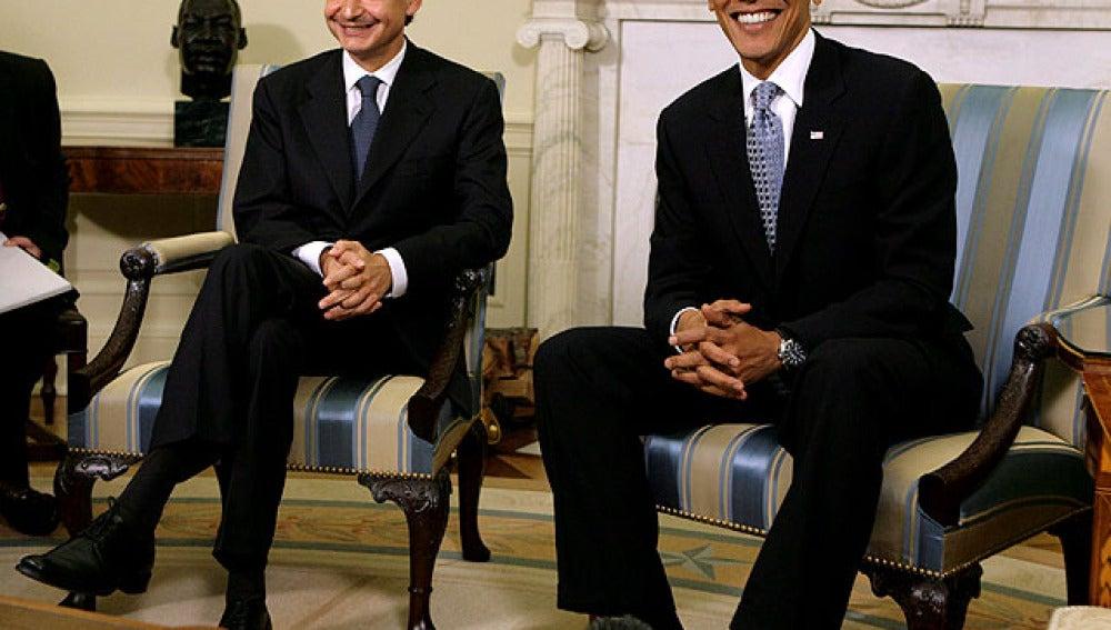 Reunión de Obama y Zapatero