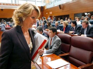 Aguirre pide a los implicados que abandonen su escaño