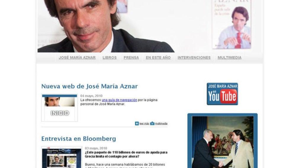 Nueva página web de José María Aznar