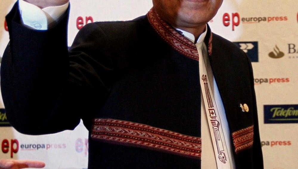 Conferencia de Evo Morales, presidente de Bolivia