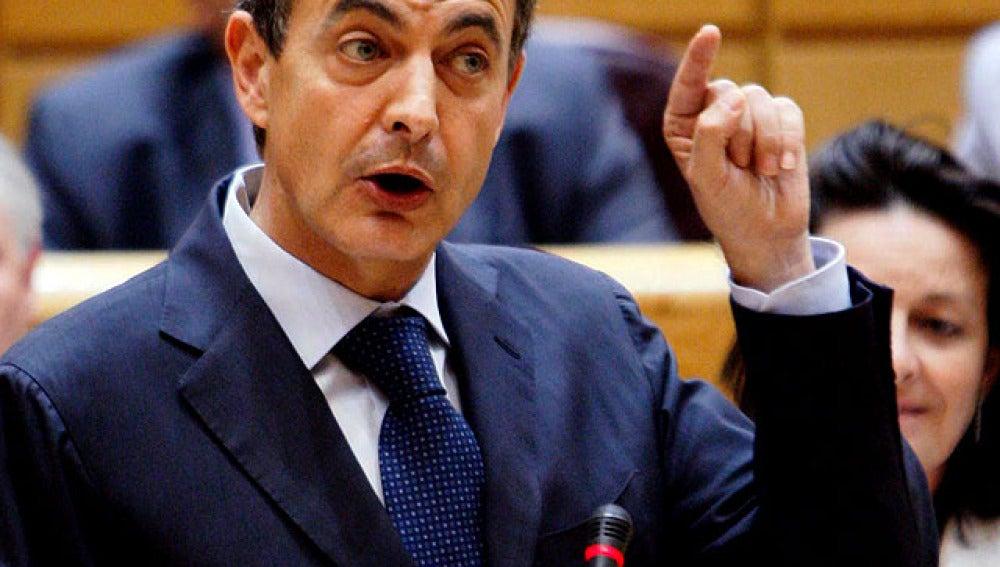 Zapatero en el Senado