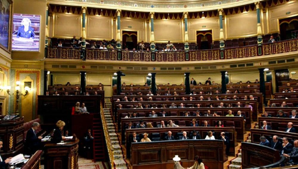 Interior del Congreso de los Diputados