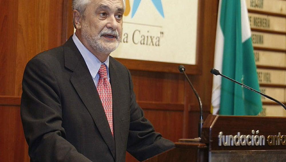 José Antonio Griñán, presidente andaluz
