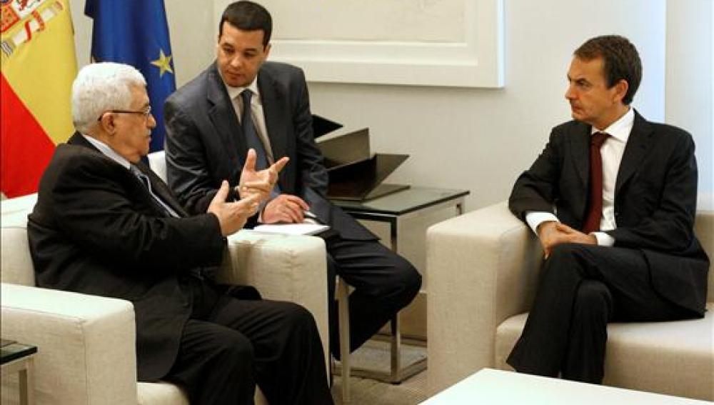 Reunión entre Zapatero y Abbas