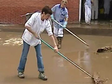 Arriondas evalúa los daños de la riada