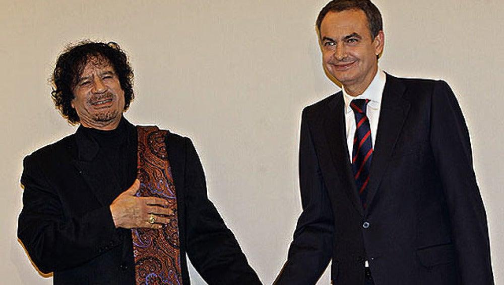 Zapartero se reúne con Gadafi