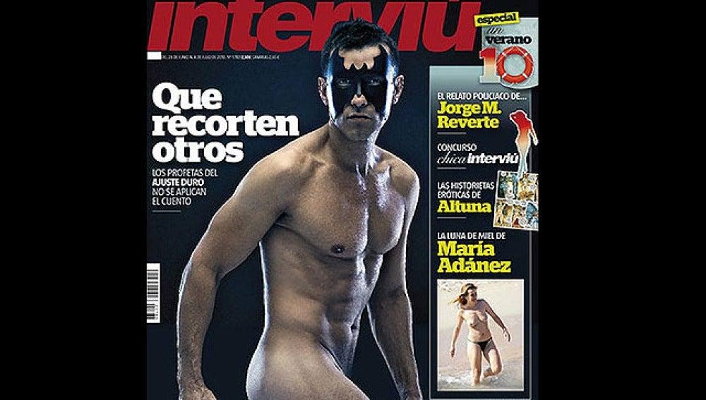 Jesús Vázquez en la portada de Interviú