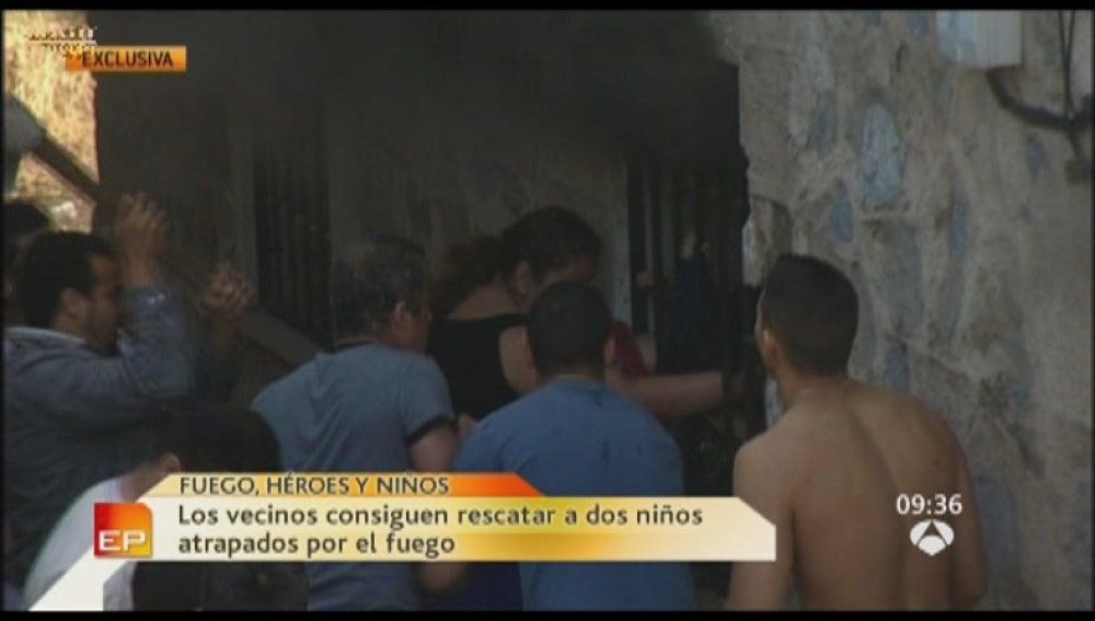 El incendio en Villalba