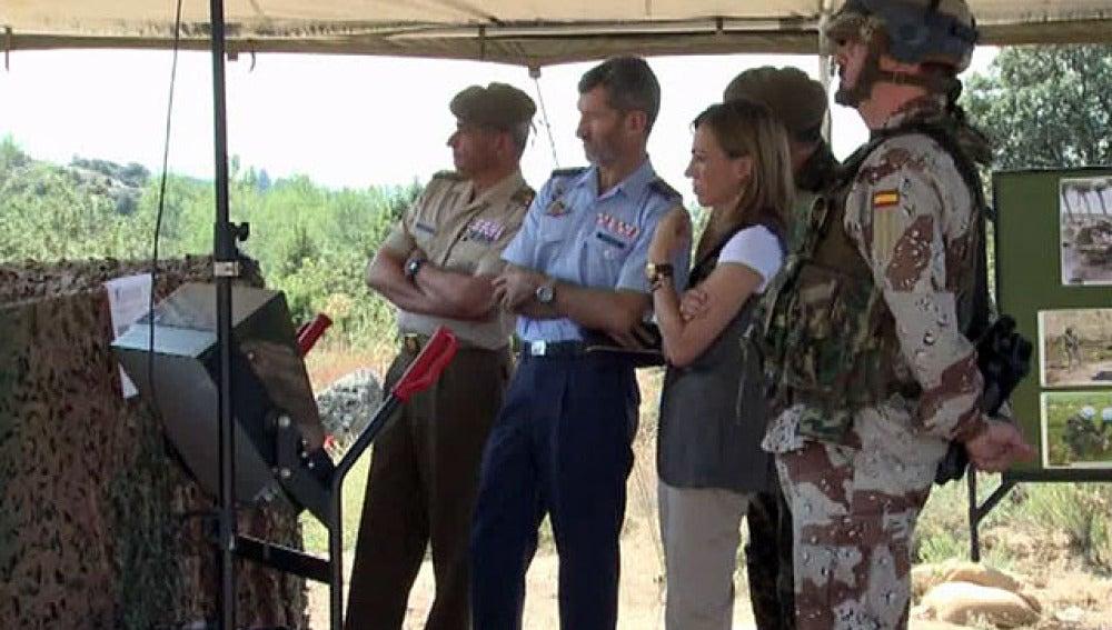 Simulacro de detección de explosivos