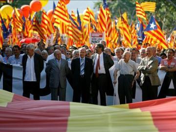 Multitudinaria manifestación en Barcelona
