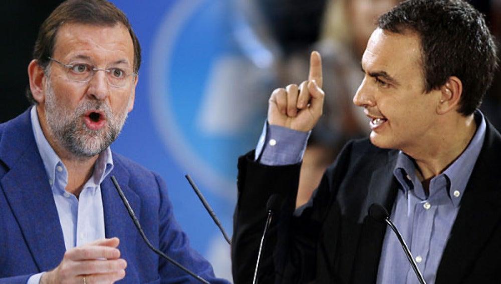 Zapatero y Rajoy