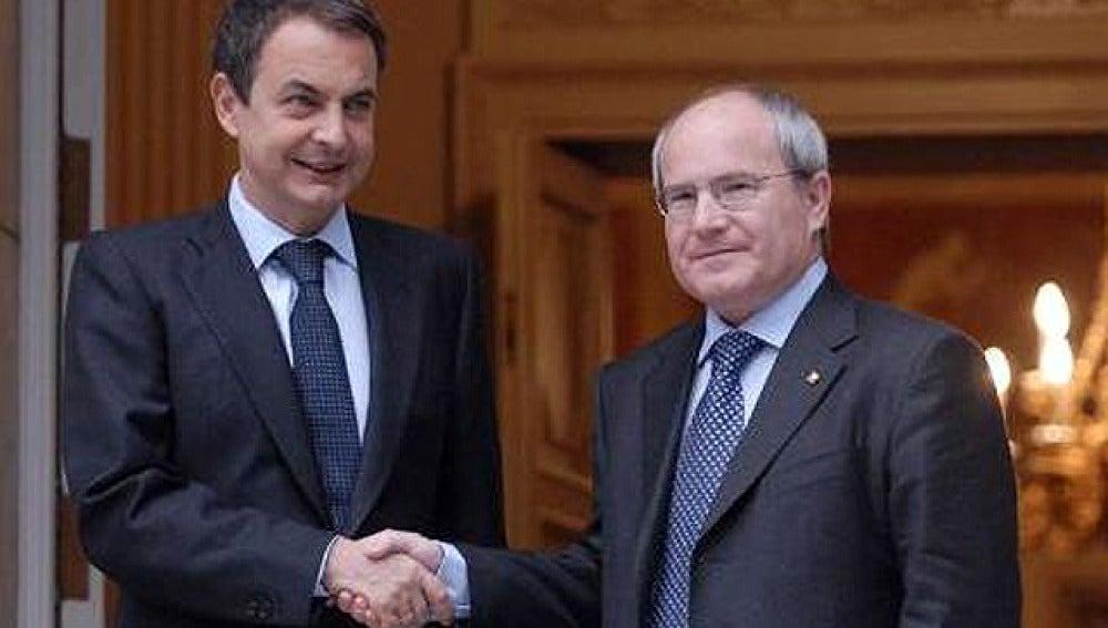 Encuentro entre Zapatero y Montilla