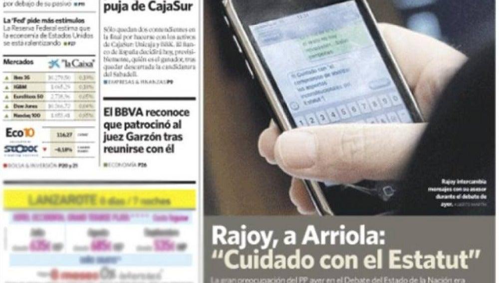SMS de Mariano Rajoy