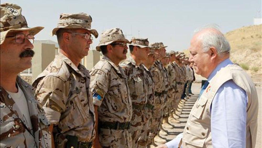 Visita de Moratinos a Afganistán
