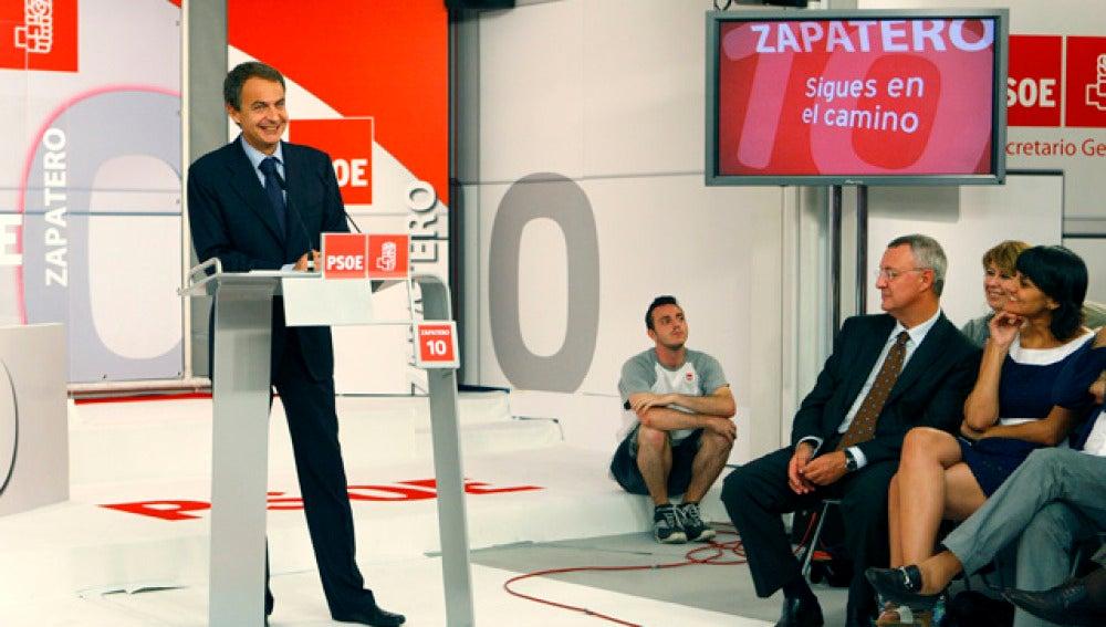 Aniversario de Zapatero en el PSOE