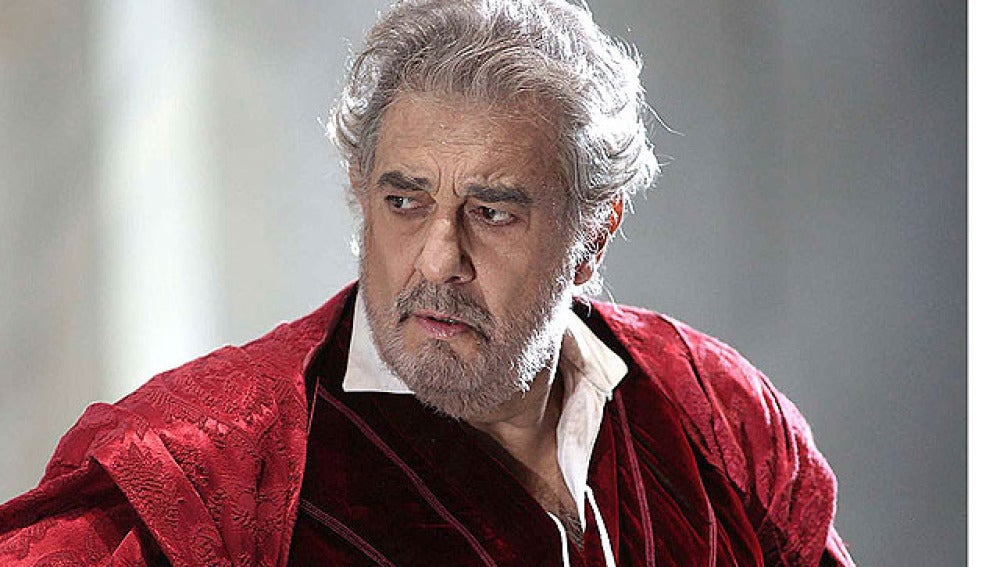 Plácido Domingo durante su interpretación