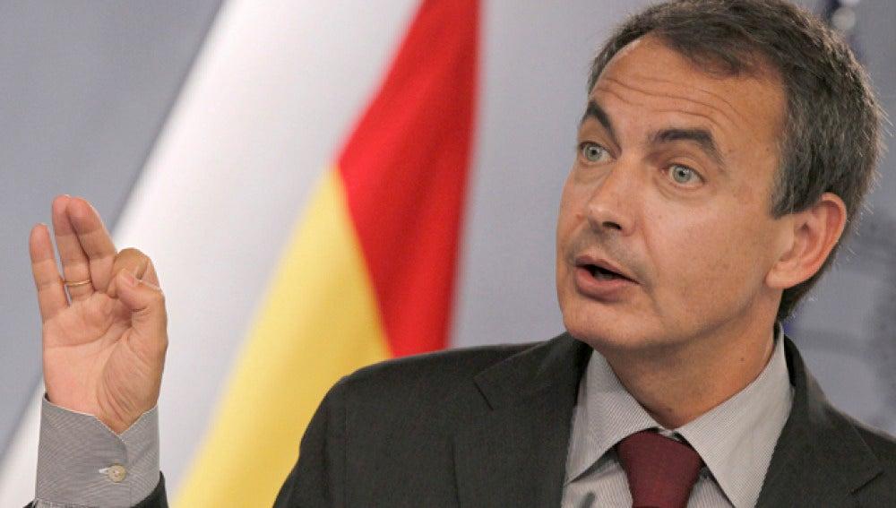 Zapatero en una comparecencia pública