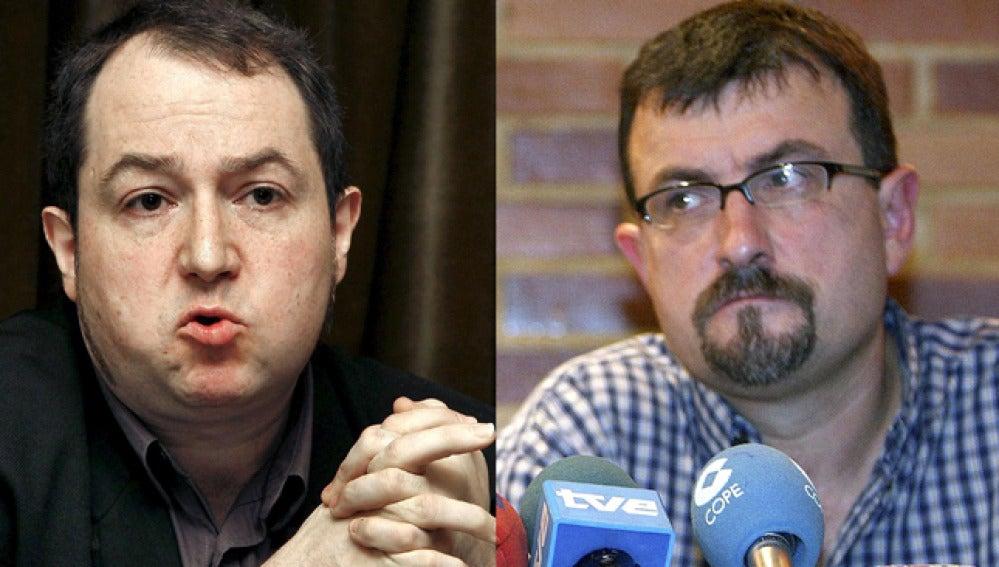 Fernaando Barrena y Juan José Petrikorena