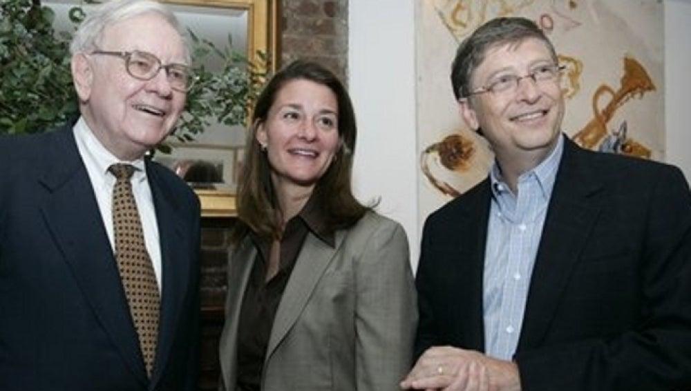 Warren Buffet, Melinda Gates y Bill Gates