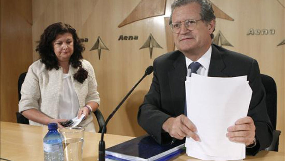 El presidente de AENA en rueda de prensa