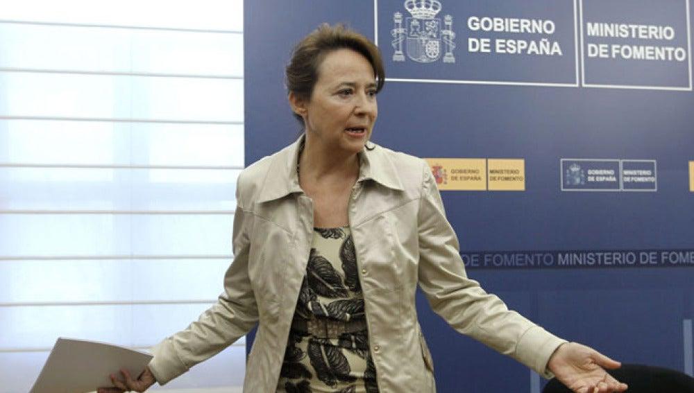 La secretaria de Estado de Transportes, Concepción Gutiérrez