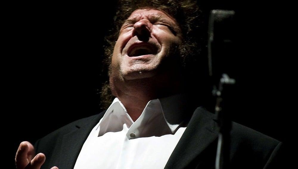 Enrique Morente en el festival de La Unión