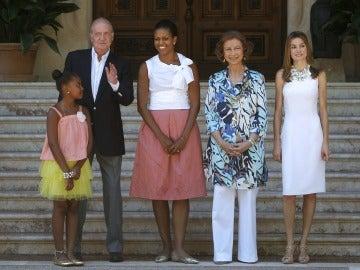 Michelle Obama, con los Reyes