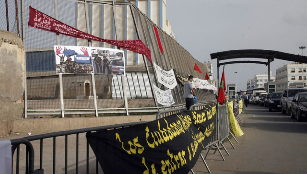 Boicot a las mercancías en Melilla
