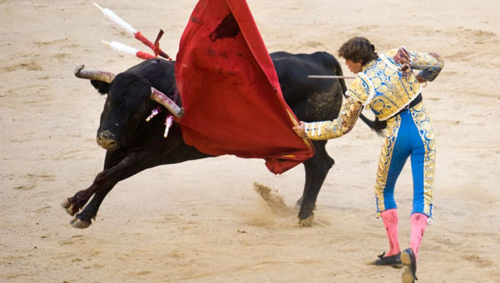 El torero Miguel Tendero en la Monumental de Barcelona