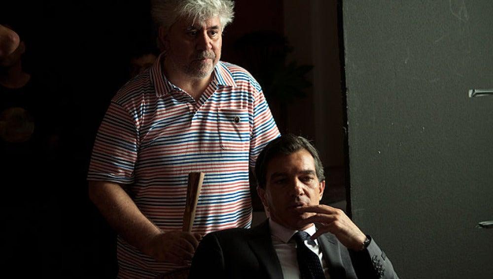 Pedro Almodóvar con Antonio Banderas
