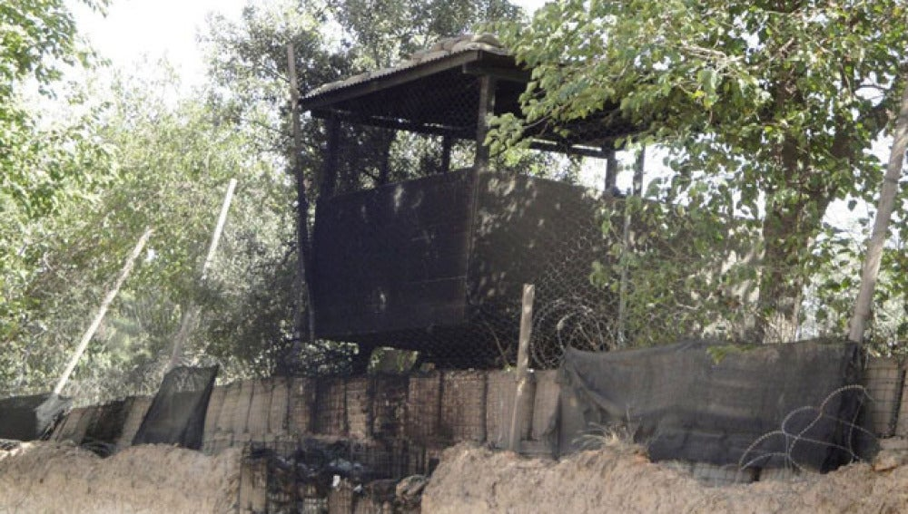 Vista de una parte de la base de Qala i Naw, donde han muerto los guardias civiles españoles