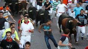 Los toros de Victoriano del Río en el encierro