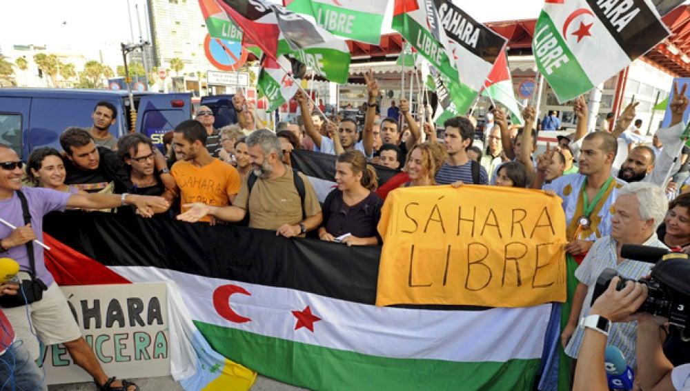 Activistas se manifiestan por un 'Sáhara libre'