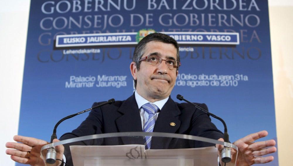 Patxi López tras presidir el Consejo del Gobierno Vasco