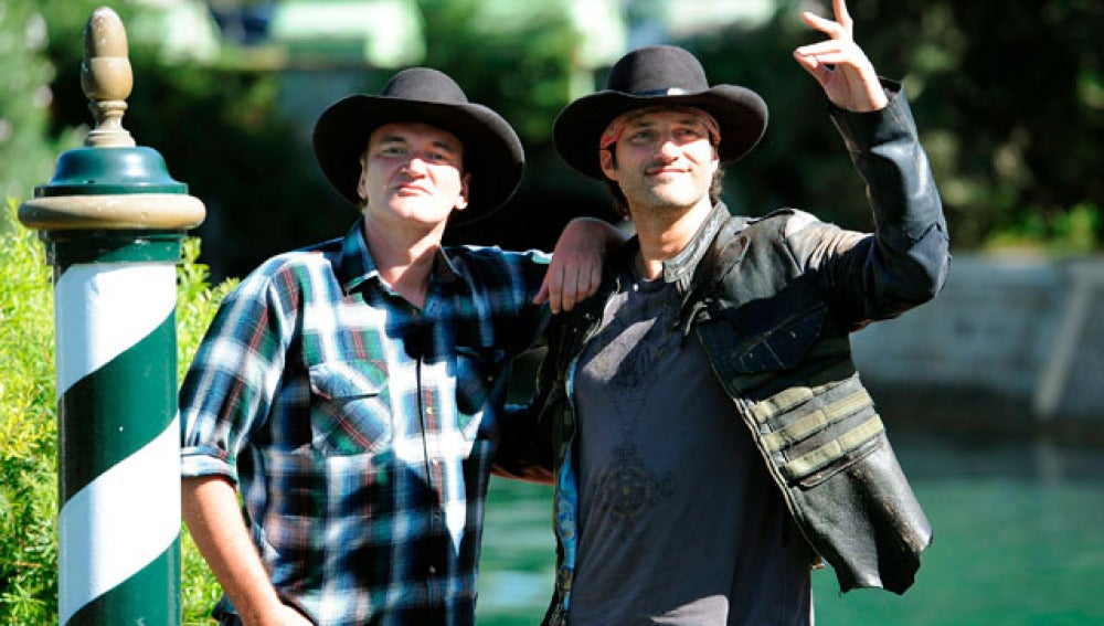 Tarantino y Rodríquez en el Festival de Venecia