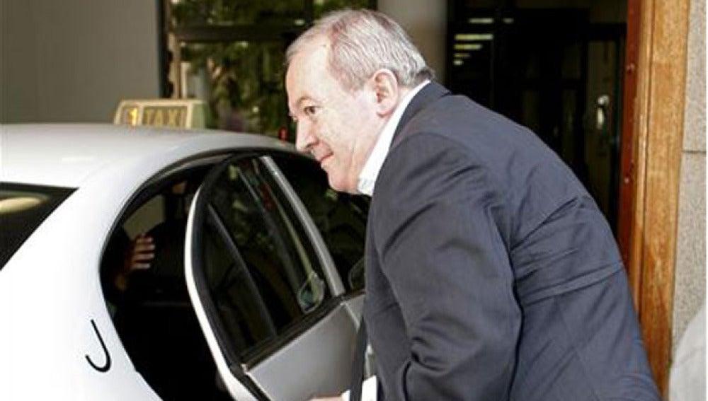 El juez instructor del caso, a su entrada en el Tribunal Superior de Justicia de Madrid