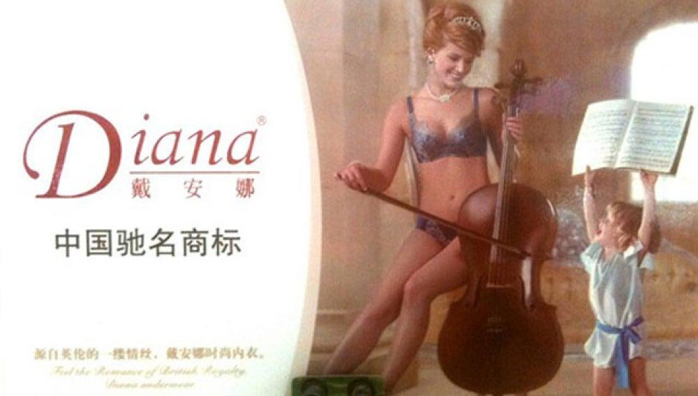 Lady Di imagen de lencería china