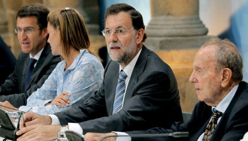 Rajoy, reunido con la cúpula del PP