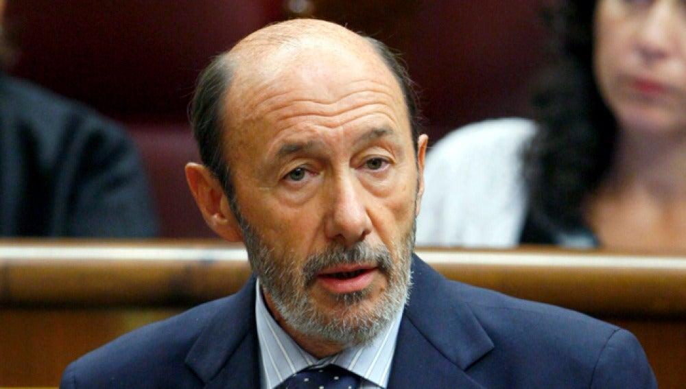 El ministro de Interior, Alfredo Pérez Rubalcaba