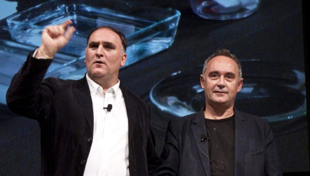 Ferran Adrià junto a su amigo y discípulo, José Andrés