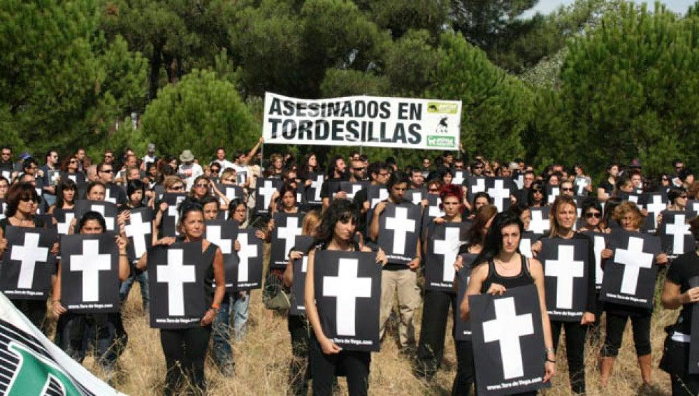 Antitaurinos contra el 'Toro de la Vega'