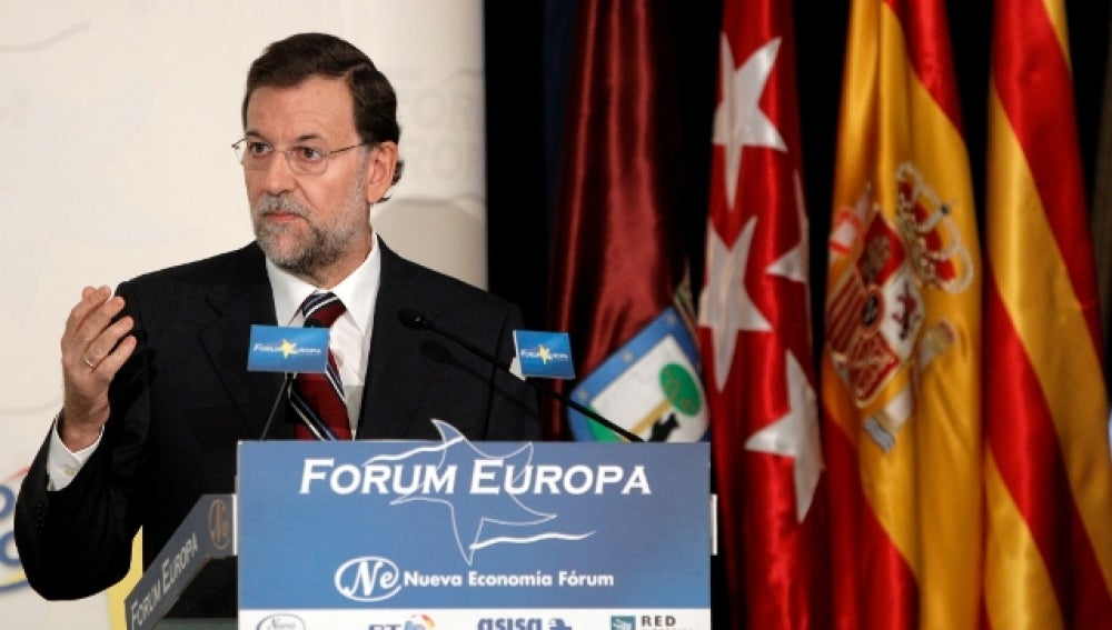 Mariano Rajoy, habla en el Forum Europa