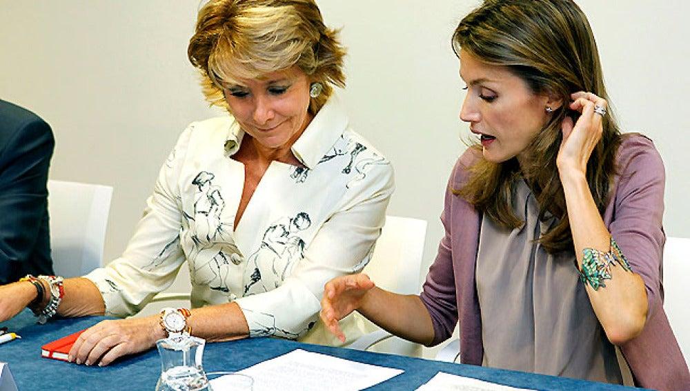 Doña Letizia con Esperanza Aguirre