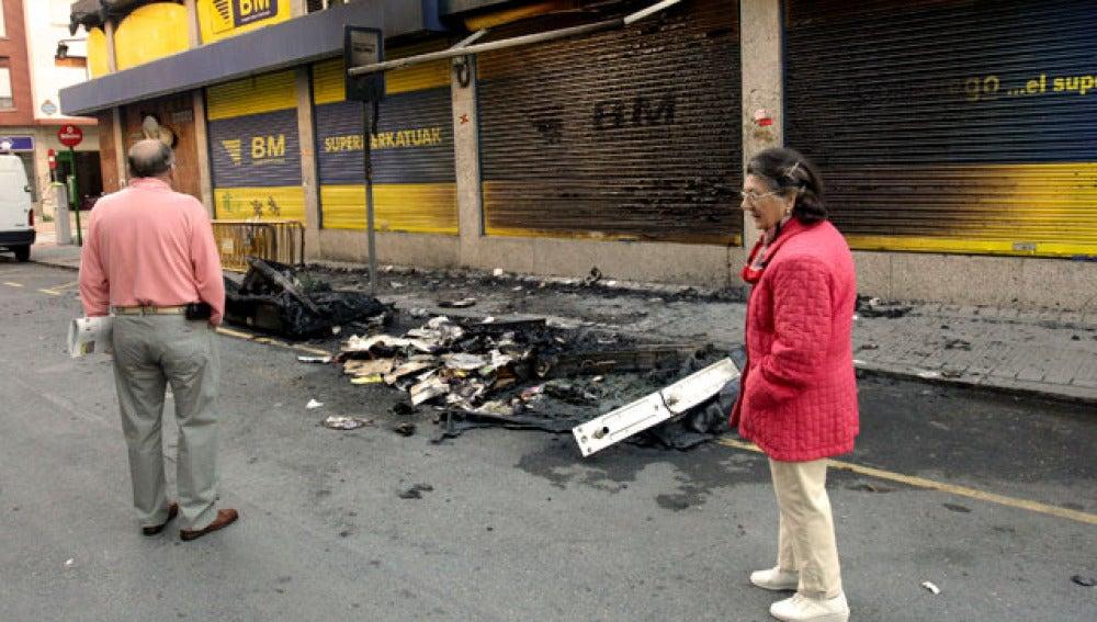Violencia callejera en Bilbao