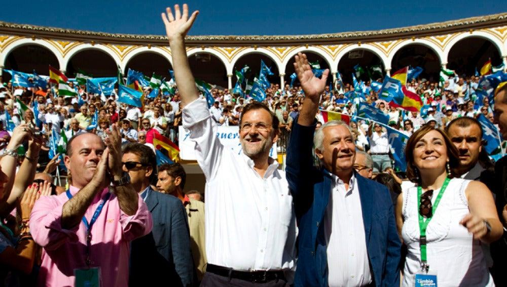 Rajoy en la plaza de Antequera