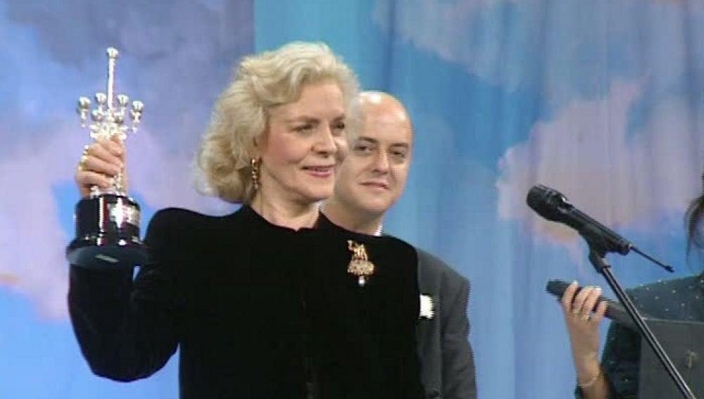 Lauren Bacall, gana el premio Donostia