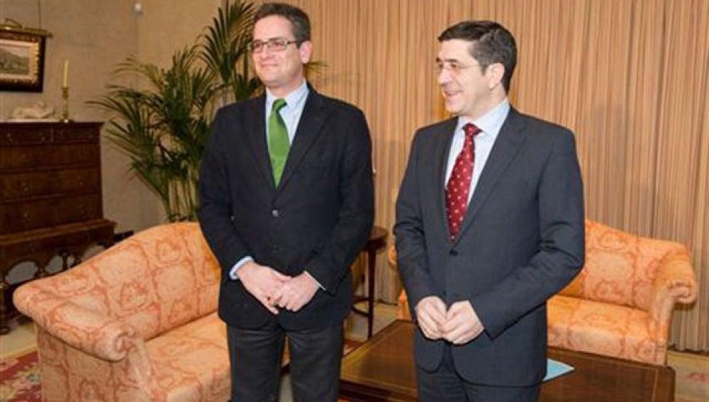 Patxi López y Antonio Basagoiti en uno de sus encuentros