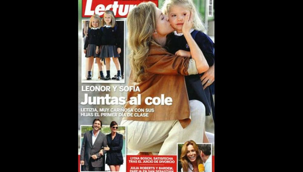 La Princesa Letizia y sus hijas en Lecturas