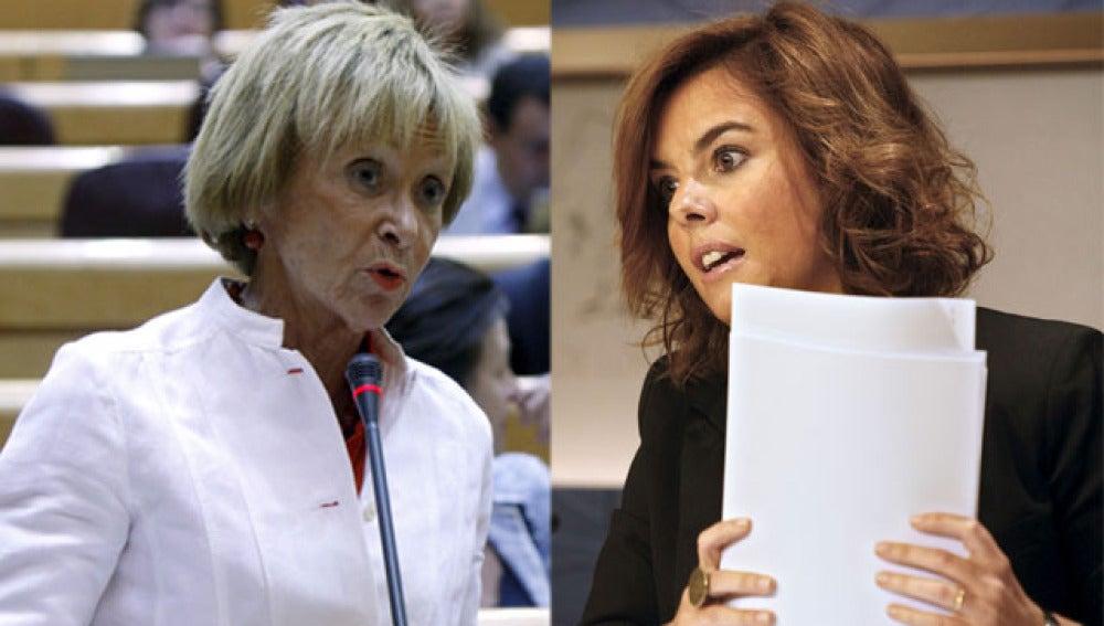 Enfrentamiento entre De la Vega y Soraya Sáenz